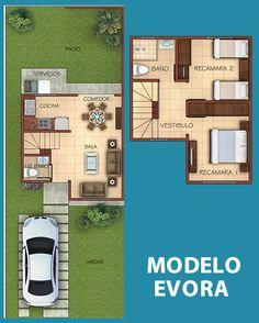 My House Plans, Duplex House Plans, Modern House Plans, Small House Plans, House Floor Plans, Independent House, House Blueprints, Small House Design, Facade House