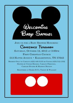 Mickey mouse baby shower invitations boy baby shower invitation great idea mickey mouse baby filmwisefo