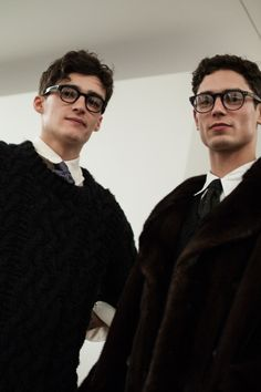 Elliot Vulliod & Arthur Gosse by Portia Hunt - Backstage at Dunhill FW15