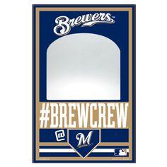 "Milwaukee Brewers WinCraft 11"" x 17"" Mirror Wood Sign - $36.99"