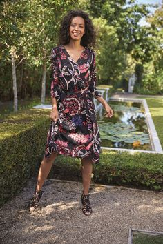Biba Printed Jacquard Wrap Dress - House of Fraser 7b39b6f6d