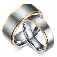 Precise Titanium Grooved Yellow Plated Ladies 6mm Brushed Wedding Ring Band Size 12.00 Jewelry & Watches