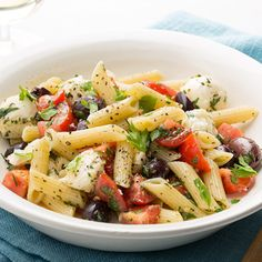 Penne with Baby Mozzarella, Tomatoes, and Herbs By Food Network Kitchen