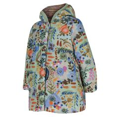 Oilily Baby Girls Multicoloured Printed Padded Jacket with Hood. Available at www.chocolateclothing.co.uk