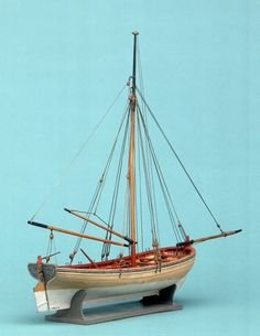 riggedlongboatcontmodel.jpg Model Ship Building, Boat Building, Wooden Model Boats, Scale Model Ships, Classic Wooden Boats, Small Boats, Tall Ships, Boating, Sailboat
