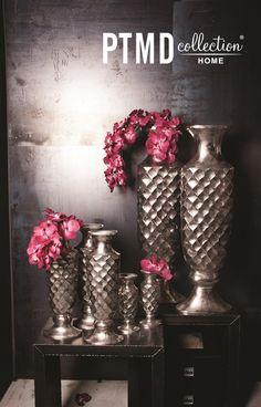 Aluminium Rough Collection - Hammered vases