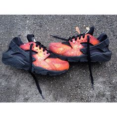Orange Galaxy Custom Customized Huaraches Trainers Sneakers Dope Footwear