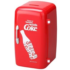 Coca-Cola(コカ・コーラ)冷蔵庫型ペンスタンドレッド