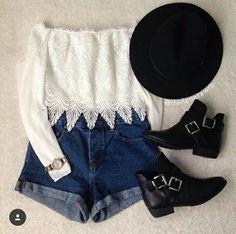 Look fashion, #bohemio, #short, #cute, #comodo, #fashion, #casual, #moda, #outfits, #estilo, #informal, #botines, #sombrero