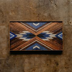 A commission going to Colorado for Tim and Beth. Made from wood rescued from a home built in 1926 in the Greenwood neighborhood of… Barn Quilt Designs, Barn Quilt Patterns, Quilting Designs, Wood Wall Decor, Wooden Wall Art, Diy Wall Art, Diy Wood Projects, Wood Crafts, Wood Mosaic