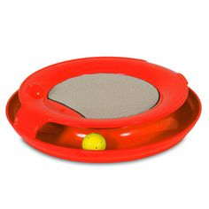 Enchant your feline with this fun spiral cat toy. Keep her busy chasing the LED light ball around the circular track to stimulate her natural urge to pursue prey. The toy's rubberized feet keep it fir