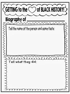 historical biography template - getting to the heart of black history month freebie top