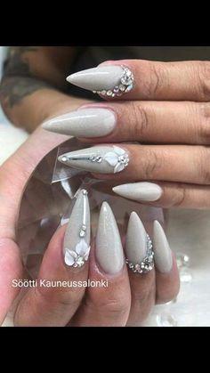 7pv Söötti Takuu. Super Söötti- kynsiin kuuluu glitterit/timantit jne. Nails, Beauty, Finger Nails, Ongles, Nail, Cosmetology, Nail Manicure