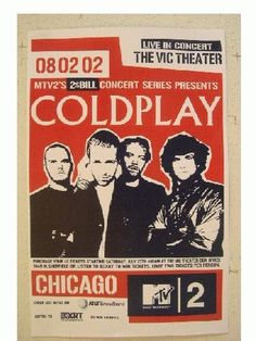 Coldplay Tour Poster Chicago Vic Theater RhythmHound