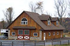 6 stall horse barn in Sparks, MD - 36'W x 60'L x 12' by B&D Builders www.custombarnbuilding.com