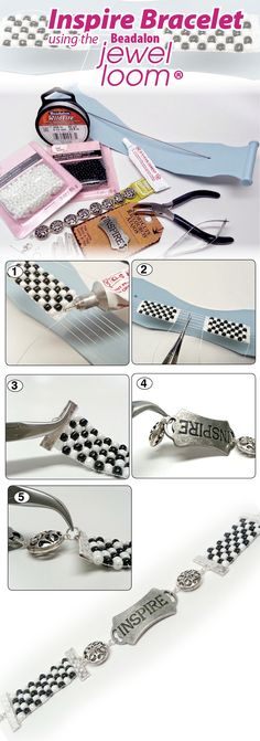 """DIY Bracelet - """"Get Inspired"""" made on the Beadalon Jewel Loom. Available in @michaelsstores"""