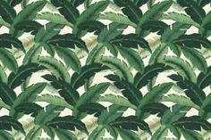SWAYING PALMS - ALOE. Image: Calico Corners. #banana_leaf #green #fabric    http://www.housefabric.com/TBO-Swaying-Palms-Aloe-P7127.aspx