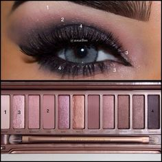 Naked 3 palette Urban decay eyeliner  Kiss lashes  Lenses solotica quartzo @ahrar_q8