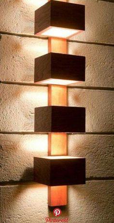 Home Lighting, Lighting Design, Diy Lampe, Diy Home Decor Rustic, Wood Lamps, Piano Lamps, Wooden Table Lamps, Ceiling Lamps, Wooden Walls