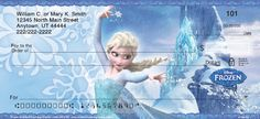 """Join Anna, Elsa, Kristoff and Olaf from Disney's movie """"Frozen"""" for a delightful touch of enchantment. Now, you can recall you favorite scenes from the movie""""Frozen"""" with these """"Frozen"""" checks."""