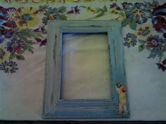 refinished 5x7 frame baby boy nursery wall by TheShepherdShed