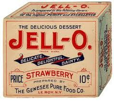 Vintage Box Label - Jell-O Brand Dessert The Genesee Pure Foods Co. New York