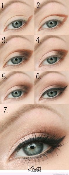 Smokey eye tutorial with nude and black