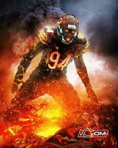 Leonard Floyd - Halloween Monsters of the Midway Chicago Bears Pictures, Bear Photos, Bear Pictures, Chicago Bears Super Bowl, Nfl Chicago Bears, Bears Football, Leonard Floyd, Chicago Bears Wallpaper, Indianapolis Colts
