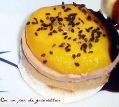 Canapé de foie gras y mango