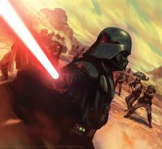 "A few months back, FFG announced the end to their long-running Star Wars: The Card Game. This illustration based on the confrontation in the ""Vader Down. Fear and Dead Men Ver Star Wars, Star Wars Sith, Star Wars Fan Art, Star Wars Canon, Movies And Series, Star Wars Images, Star Wars Wallpaper, Anakin Skywalker, Love Stars"