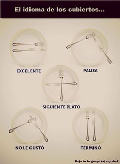 Learning how to eat Table Setting Etiquette, Dining Etiquette, Table Settings, Table Manners, Good Manners, Etiquette And Manners, Things To Know, Cooking Tips, Life Hacks