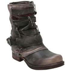 Buy Grey Black A.S.98 Women's 717221 Ankle Boot shoes
