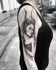 Tattoo That Look Like Charcoal Drawings Created by Inez Janiak.|FunPalStudio|Illustrations, Art, Entertainment, beautiful, creativity, photo, photographer, nature, Artwork, Artist, tattoo art, fashion, sketch drawings.