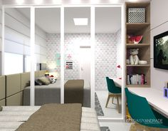 Quarto da menina. Ambiente aconchegante com móveis em cores neutras e muito colorido nos detalhes.  Projeto em parceria com a designer Fabiana Brandão.  #daisyandradearquitetura