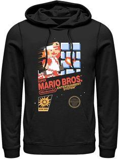 86fa6c629938 Men s Nintendo Super Mario Brothers Pullover Hoodie. Super Mario Brothers VideogamesHoodieNintendoSuper ...