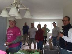 Rotarians at Habitat for Humanity house on a Saturday. In the back is Chip Frentz, Dr. Lufkin, Jean Frentz, Melissa Thompson, Reginald Smith, Bob Waldvogel. — in Alanson, Michigan.