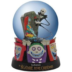 Westland Giftware Water Globe Figurine, 85mm, Disney Nightmare Before Christmas Celebrating Our Love