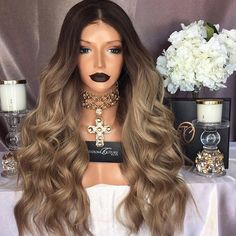 pre plucked lace wigs natural hair line, two colour remy lace wigs, full lace wig with baby hair Trendy Hairstyles, Wig Hairstyles, Best Human Hair Extensions, Curly Hair Styles, Natural Hair Styles, Pastel Hair, Human Hair Wigs, Hair Hacks, Lace Wigs