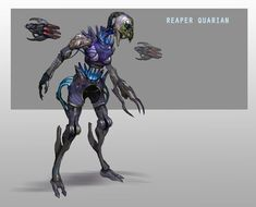 """During the Mass Effect trilogy you fight a few friendly species """"re-appropriated"""" as bad guys by the Reapers. So concept artist Andrew Ryan decided to imagine what it would be like if the Reapers had been a little more thorough. Mass Effect Reapers, Mass Effect 1, Mass Effect Universe, Character Concept, Character Art, Concept Art, Character Design, Character Ideas, Character Inspiration"""