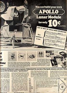 Image result for Build Your Own Apollo Lunar Module comic ad