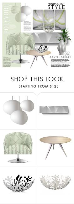 """""""Minimalism: Living Rom"""" by olga1402 ❤ liked on Polyvore featuring interior, interiors, interior design, home, home decor, interior decorating, Linfa Design, Williams-Sonoma, Alessi and Jonathan Adler"""