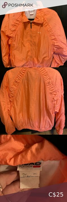 Vintage Coral Head Windbreaker Perfect condition vintage Head windbreaker. Gorgeous vibrant colour. One of my faves but I have to decrease my jacket collection. Hard to let this one go. Size small. Head Jackets & Coats White Blazer Women, White Women, Denim Cap, Shawl Cardigan, Blazer Dress, Boss Lady, Vibrant Colors, Windbreaker, Jackets For Women