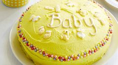 Perfect for a First Birthday or Baby Shower, this gorgeous yellow baby cake is sure to impress.
