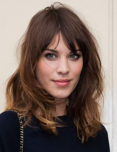 Alexa Chung, shoulder length hair.