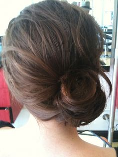 chignon Want to wear my hair this way when it grows out a bit more