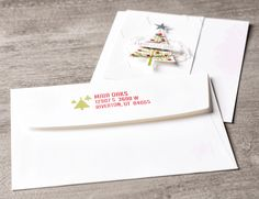 Make your envelopes feel festive with the fun Trio of Trees Personalized Name stamp.