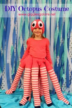 Octopus costume to make yourself funny carnival costumes for kids - Diy Kostüme fasching - Halloween costumes diy Costumes Faciles, Purim Costumes, Easy Diy Costumes, Boy Costumes, Carnival Costumes, Adult Costumes, Children Costumes, Costume Ideas, Disfarces Halloween