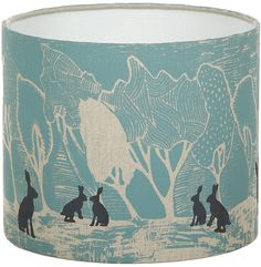 Orwell and Goode - Night Woods: Hares in Blue Lampshade - 10inch on shopstyle.co.uk