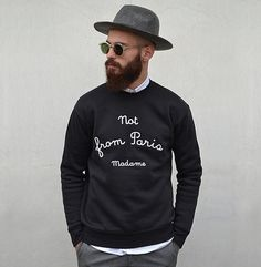 """Drôle de monsieur"" sweatshirt, dope!"