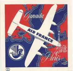 Air France Airlines Luggage Deco Label   eBay
